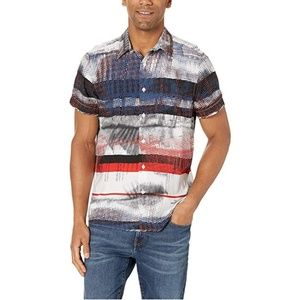 Perry Ellis Men's Graffiti Stripe Print Shirt